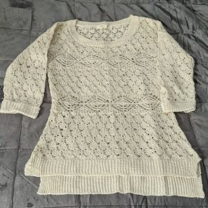 Crochet 3-Quarter Sleeve Sweater
